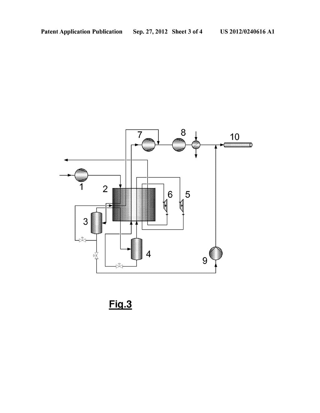 METHOD AND DEVICE FOR TREATING A CARBON DIOXIDE-CONTAINING GAS STREAM - diagram, schematic, and image 04