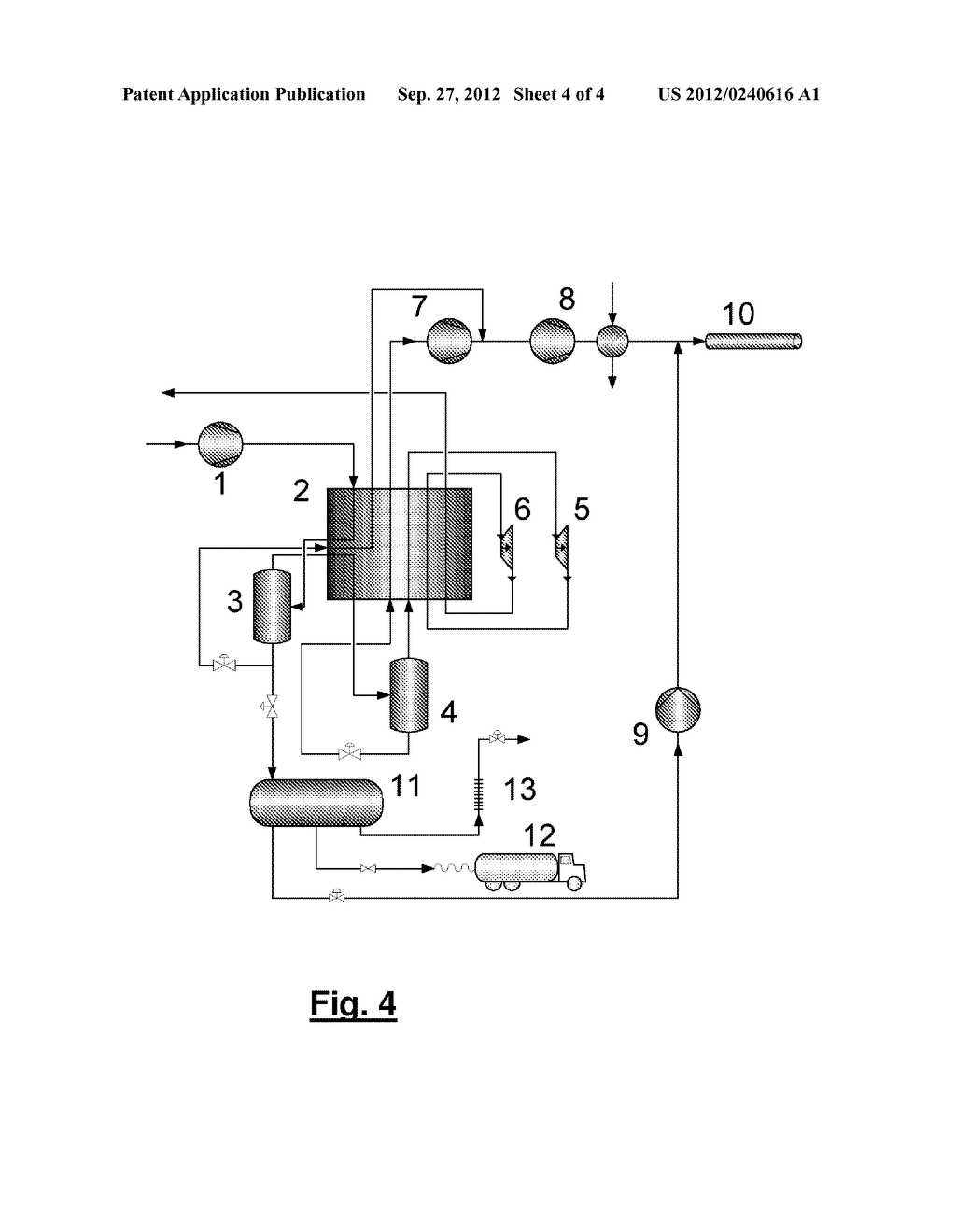 METHOD AND DEVICE FOR TREATING A CARBON DIOXIDE-CONTAINING GAS STREAM - diagram, schematic, and image 05