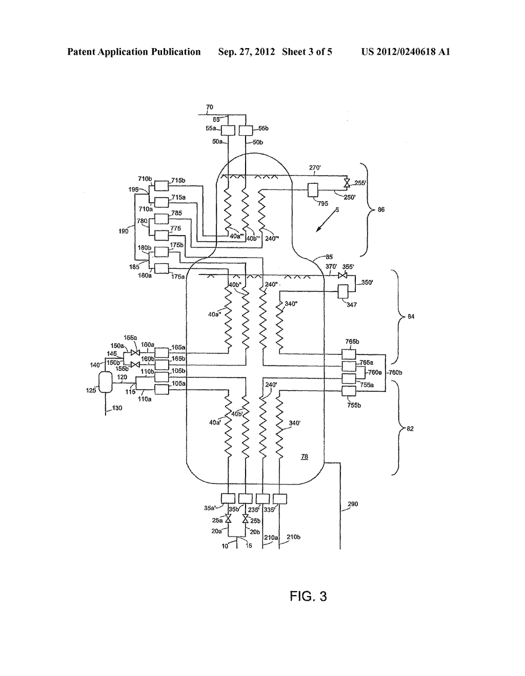 APPARATUS AND METHOD FOR COOLING AND LIQUEFYING A FLUID - diagram, schematic, and image 04