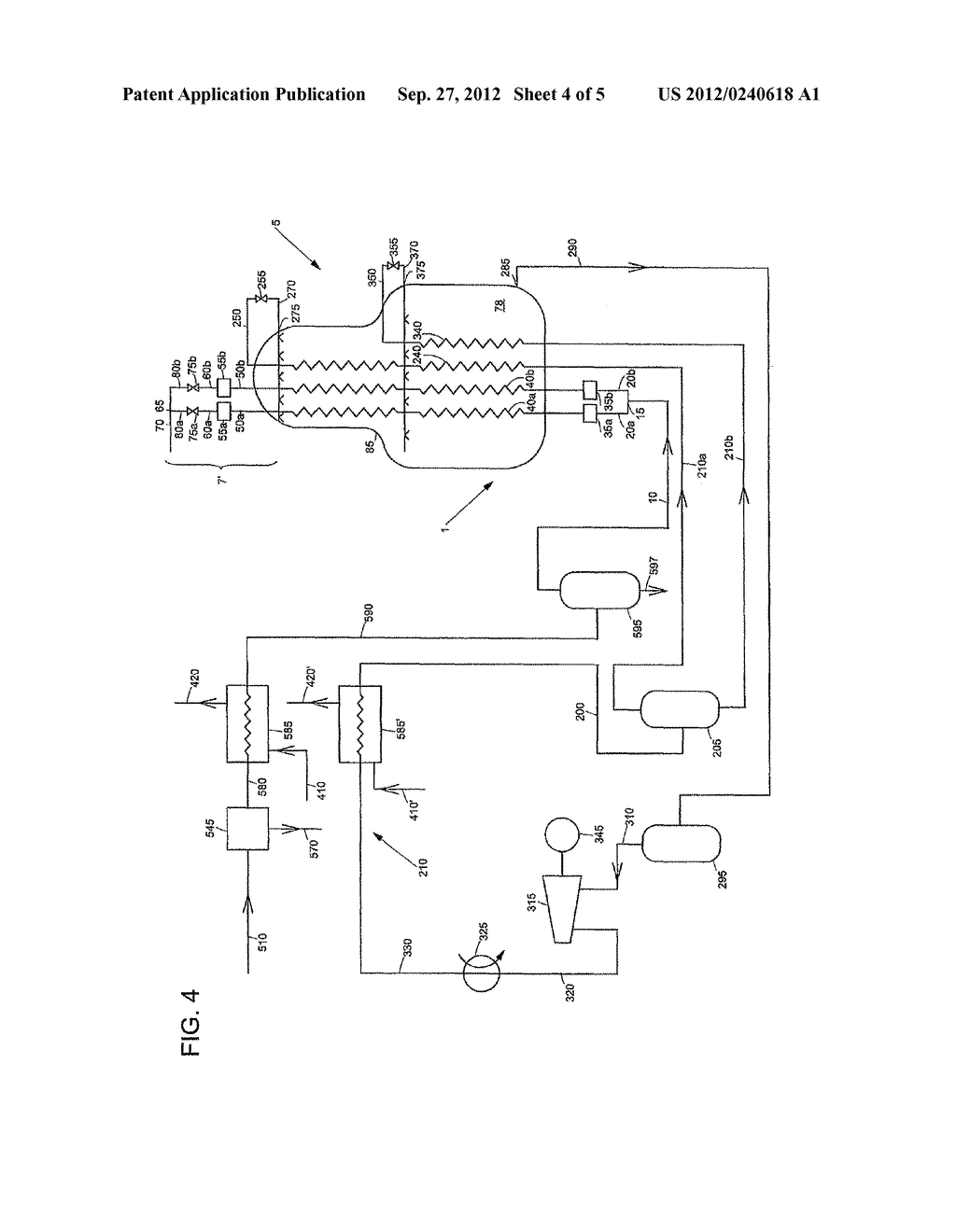 APPARATUS AND METHOD FOR COOLING AND LIQUEFYING A FLUID - diagram, schematic, and image 05