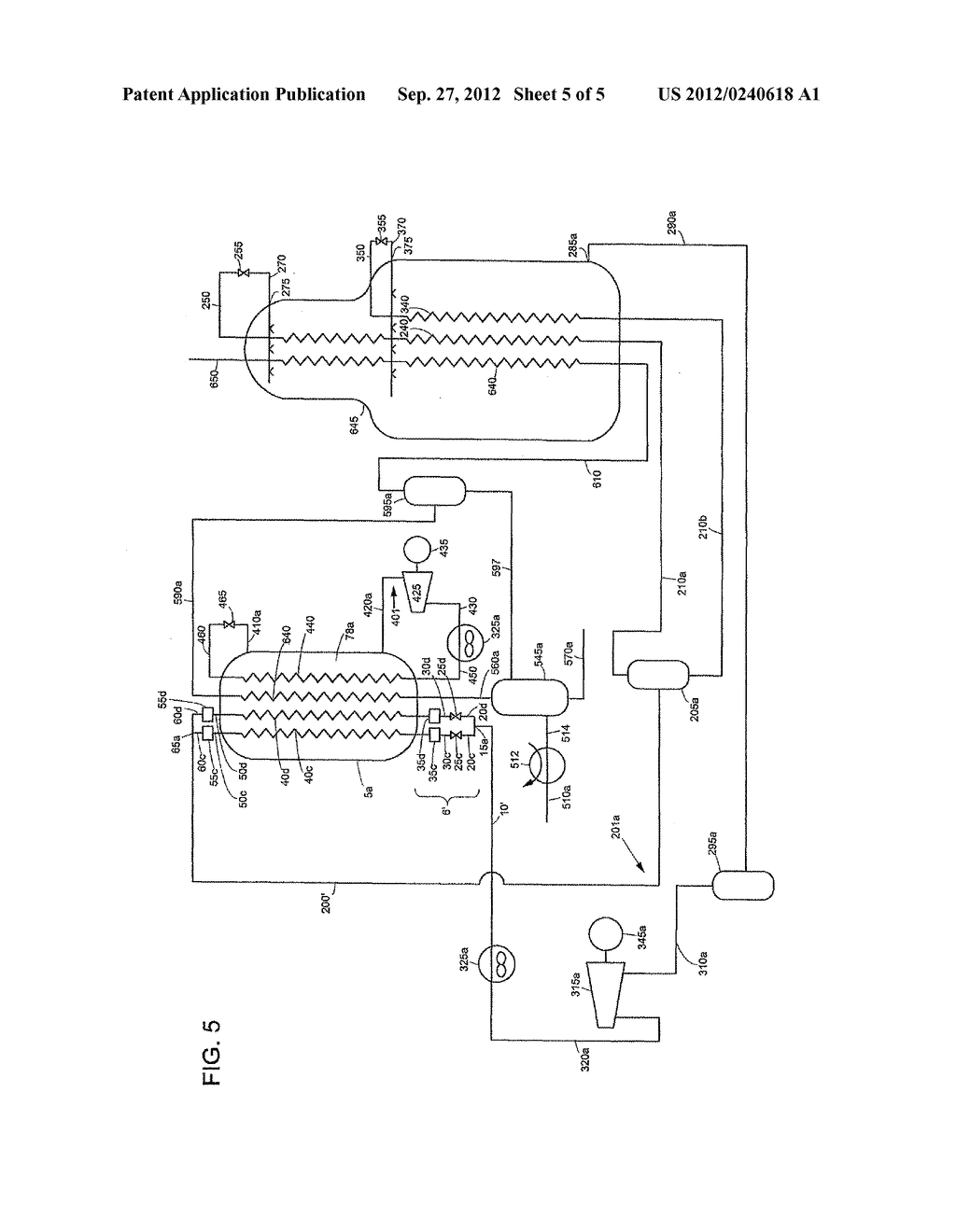 APPARATUS AND METHOD FOR COOLING AND LIQUEFYING A FLUID - diagram, schematic, and image 06