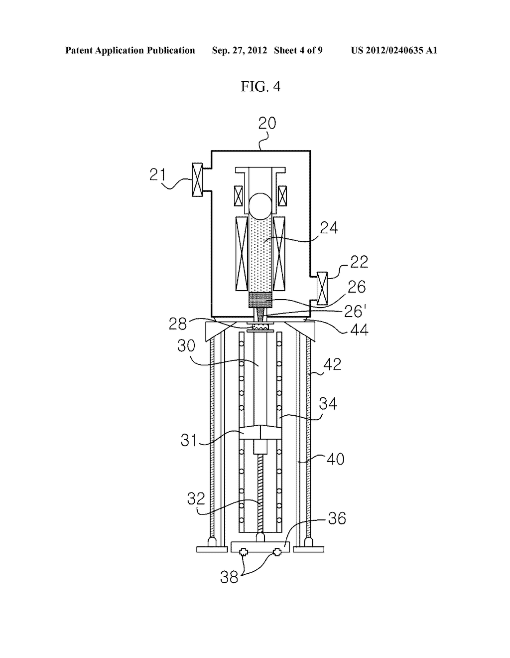 APPARATUS AND METHOD FOR EXTRACTING A SILICON INGOT - diagram, schematic, and image 05