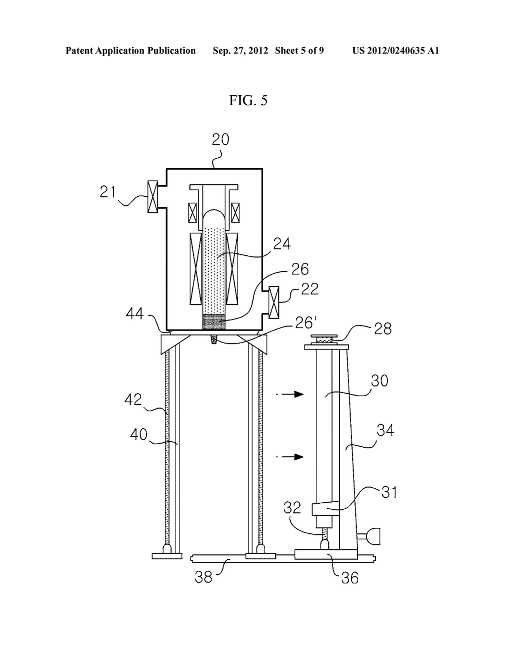 APPARATUS AND METHOD FOR EXTRACTING A SILICON INGOT - diagram, schematic, and image 06