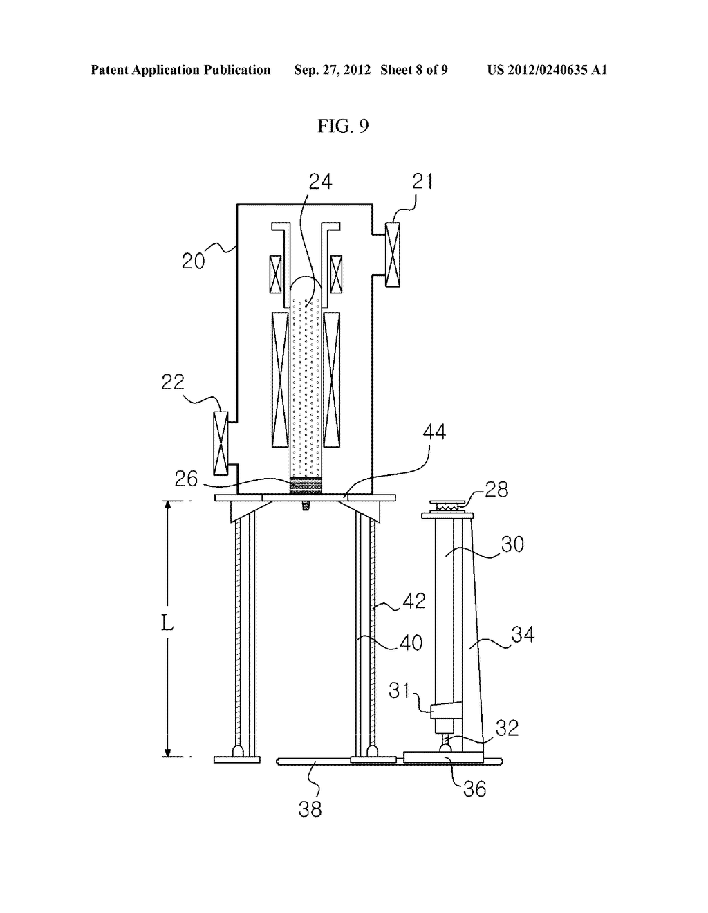 APPARATUS AND METHOD FOR EXTRACTING A SILICON INGOT - diagram, schematic, and image 09