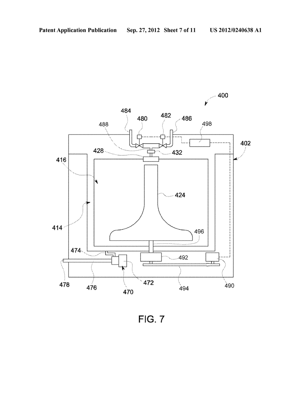DEVICE AND METHOD FOR RINSING OBJECTS IN AN APPLIANCE - diagram, schematic, and image 08