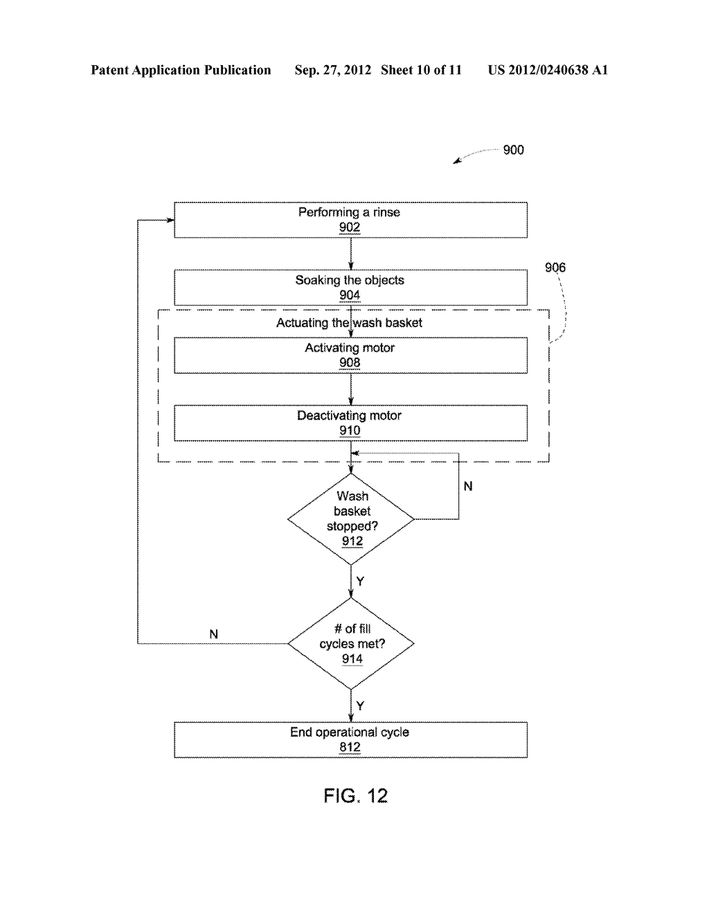 DEVICE AND METHOD FOR RINSING OBJECTS IN AN APPLIANCE - diagram, schematic, and image 11