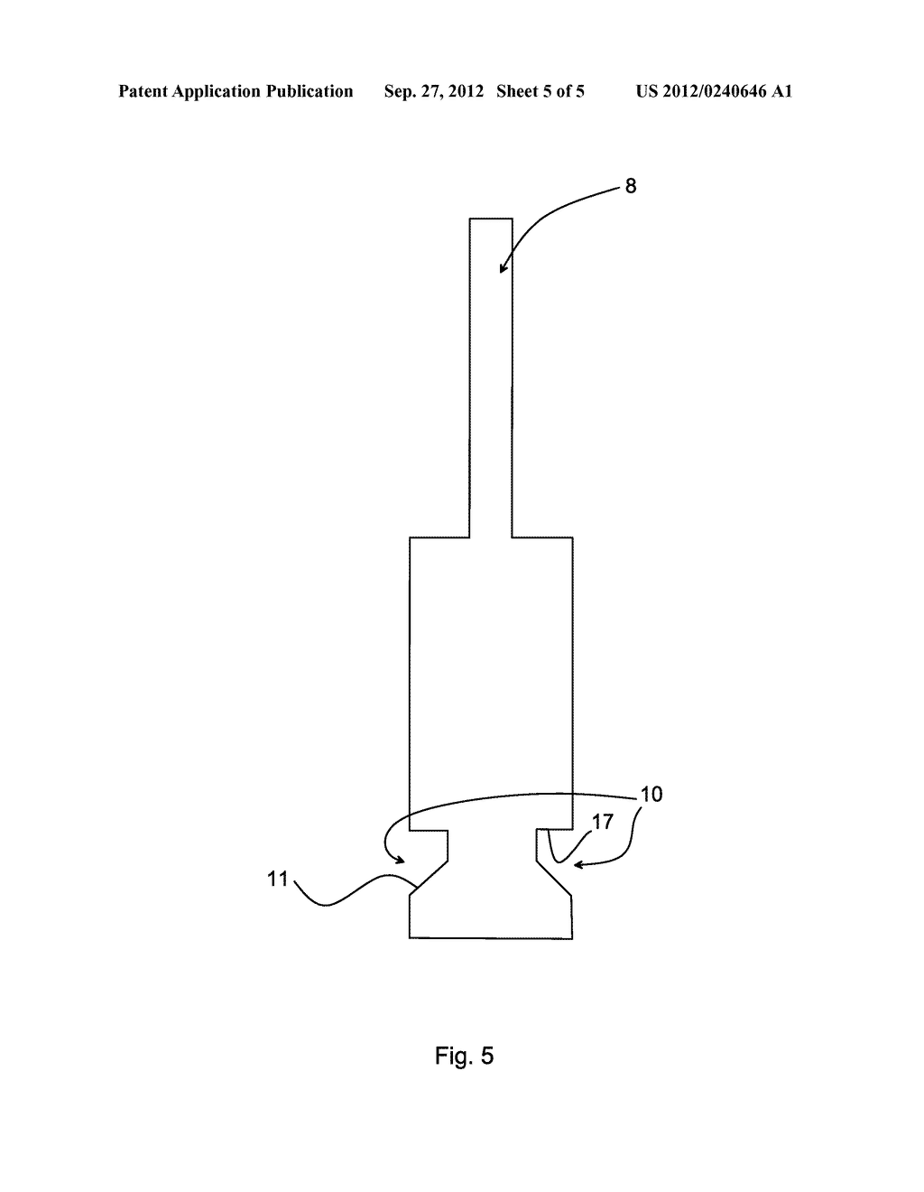 Cylinder Lock with Side Bar and Side Pins, Key and Lock Assembly - diagram, schematic, and image 06