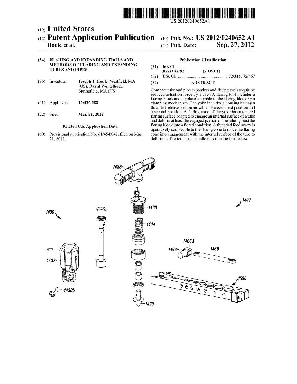 Flaring and Expanding Tools and Methods of Flaring and Expanding Tubes and     Pipes - diagram, schematic, and image 01