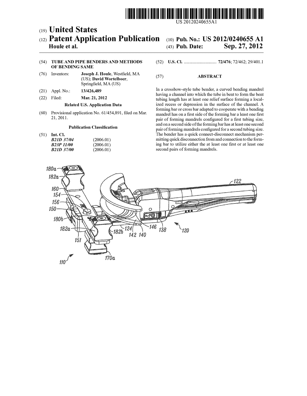 Tube and Pipe Benders and Methods of Bending Same - diagram, schematic, and image 01