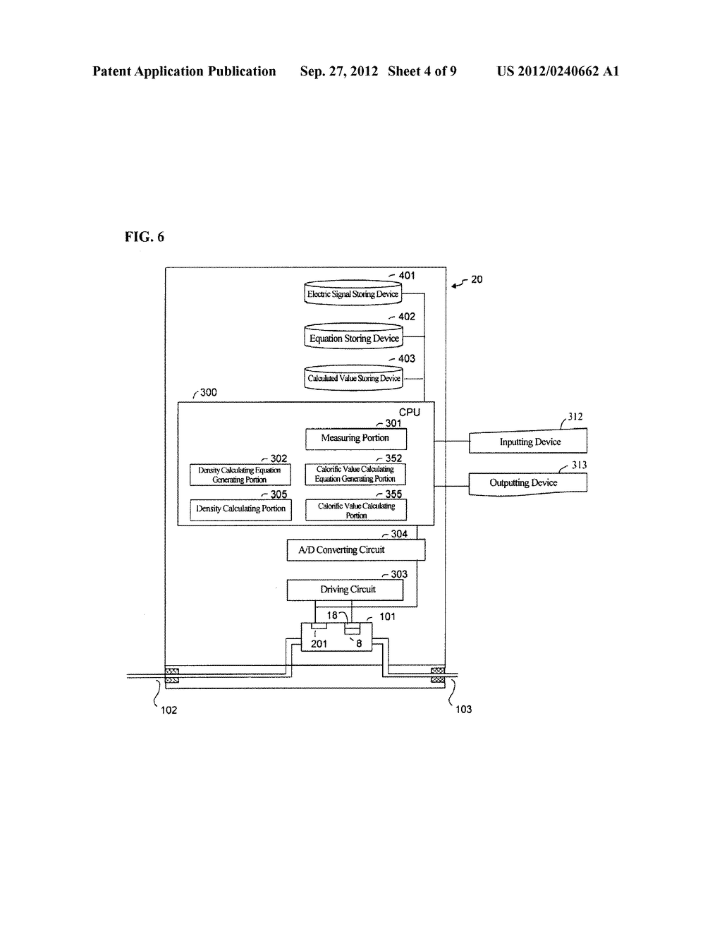 DENSITY MEASURING SYSTEM AND DENSITY MEASURING METHOD - diagram, schematic, and image 05