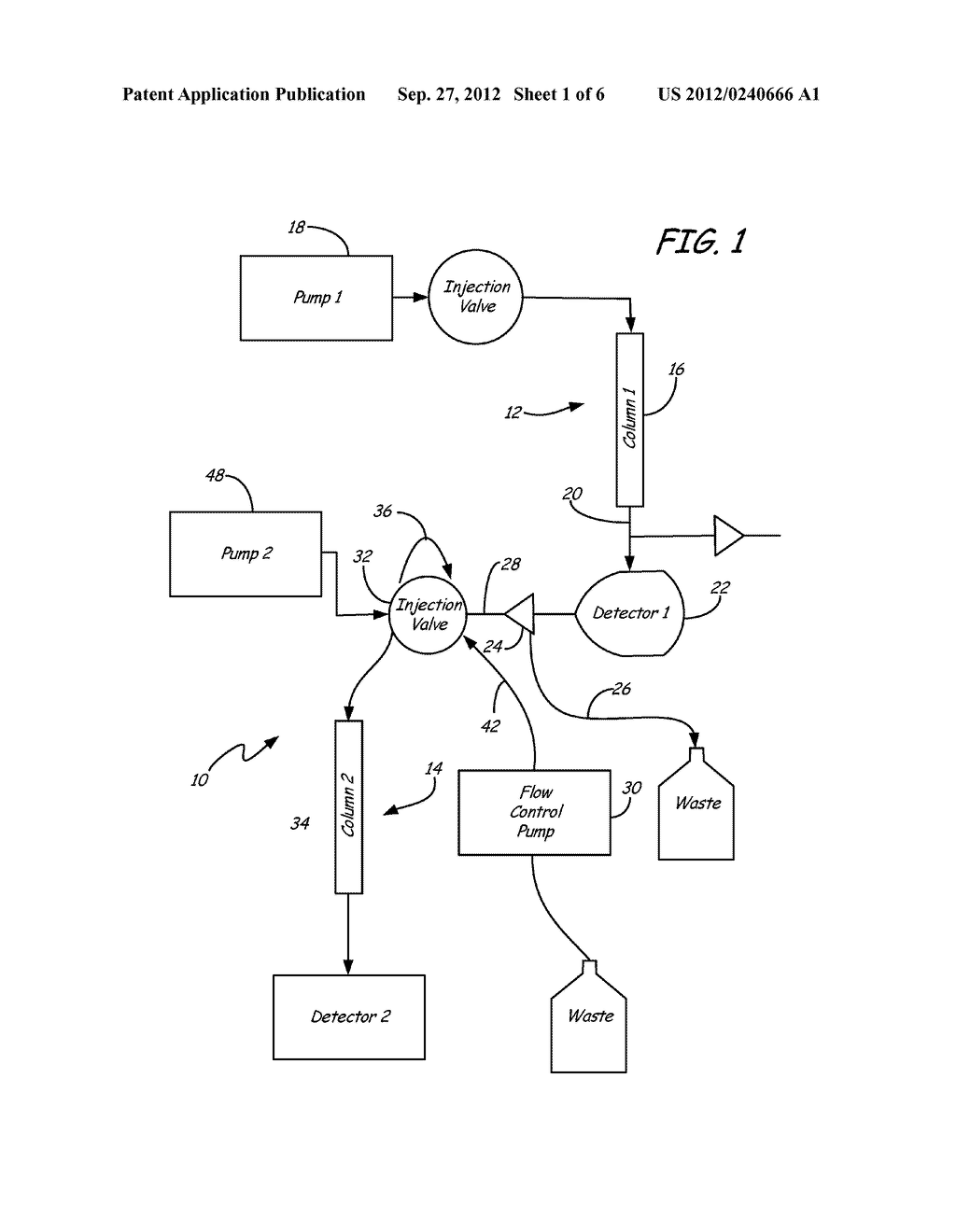 Valve and Splitting System for Multi-Dimensional Liquid Analysis - diagram, schematic, and image 02