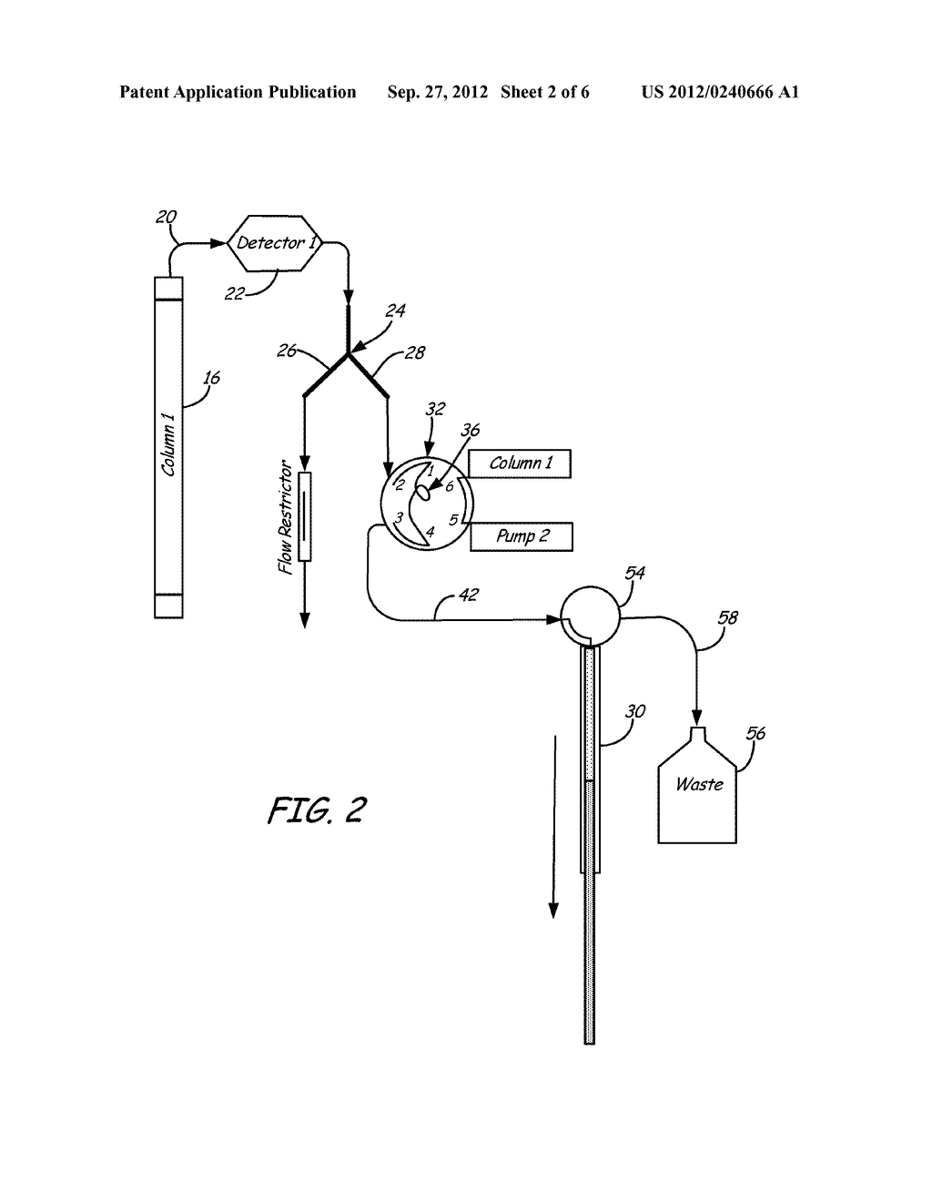 Valve and Splitting System for Multi-Dimensional Liquid Analysis - diagram, schematic, and image 03