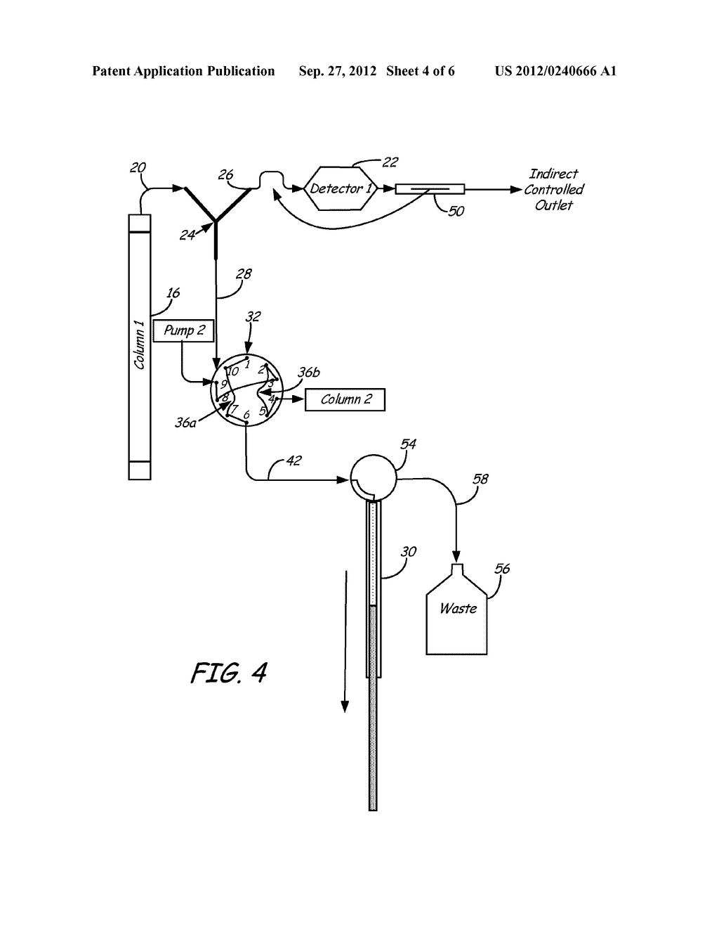 Valve and Splitting System for Multi-Dimensional Liquid Analysis - diagram, schematic, and image 05