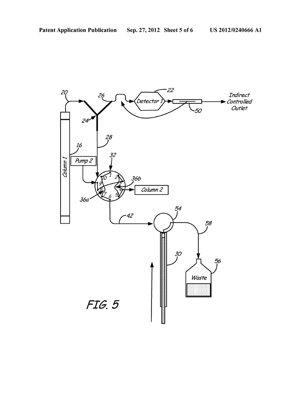 Valve and Splitting System for Multi-Dimensional Liquid Analysis - diagram, schematic, and image 06