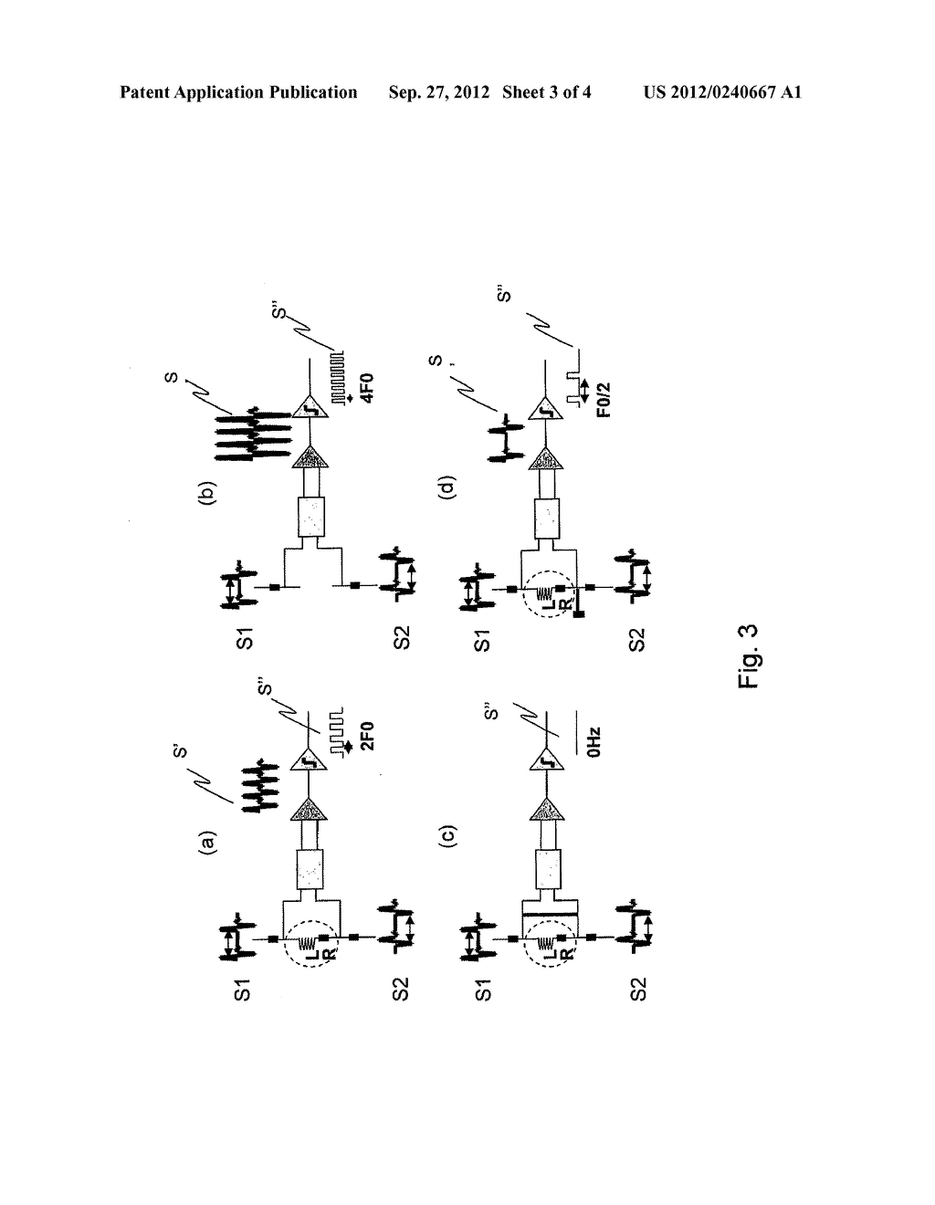 METHOD FOR DETECTING THE FAILURE OF A FREQUENCY SENSOR, AND CIRCUIT FOR     IMPLEMENTING SAID METHOD - diagram, schematic, and image 04