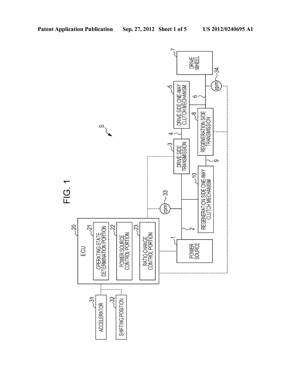 POWER TRANSMISSION APPARATUS AND METHOD FOR CONTROLLING POWER TRANSMISSION     APPARATUS - diagram, schematic, and image 02