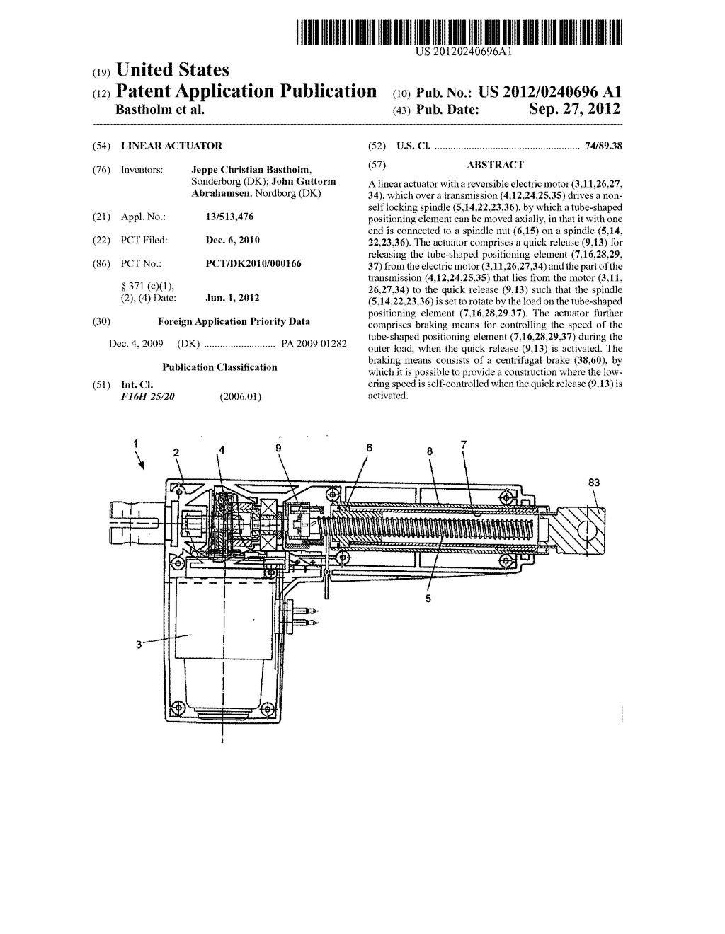 LINEAR ACTUATOR - diagram, schematic, and image 01