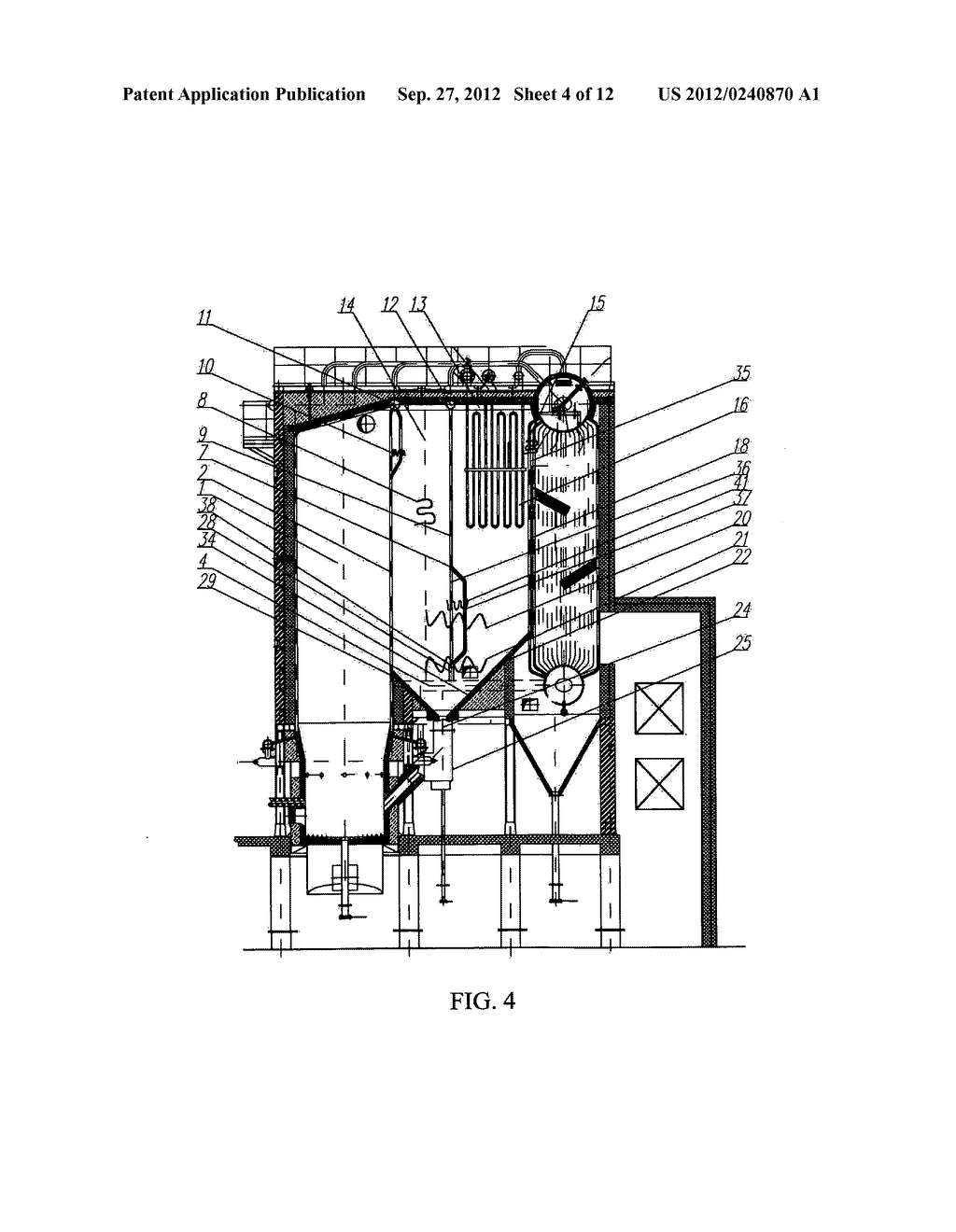Circulating Fluidized Bed Boiler With Gas Solid Separator Diagram Schematic And Image 05