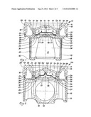 MULTI-PART PISTON FOR AN INTERNAL COMBUSTION ENGINE diagram and image