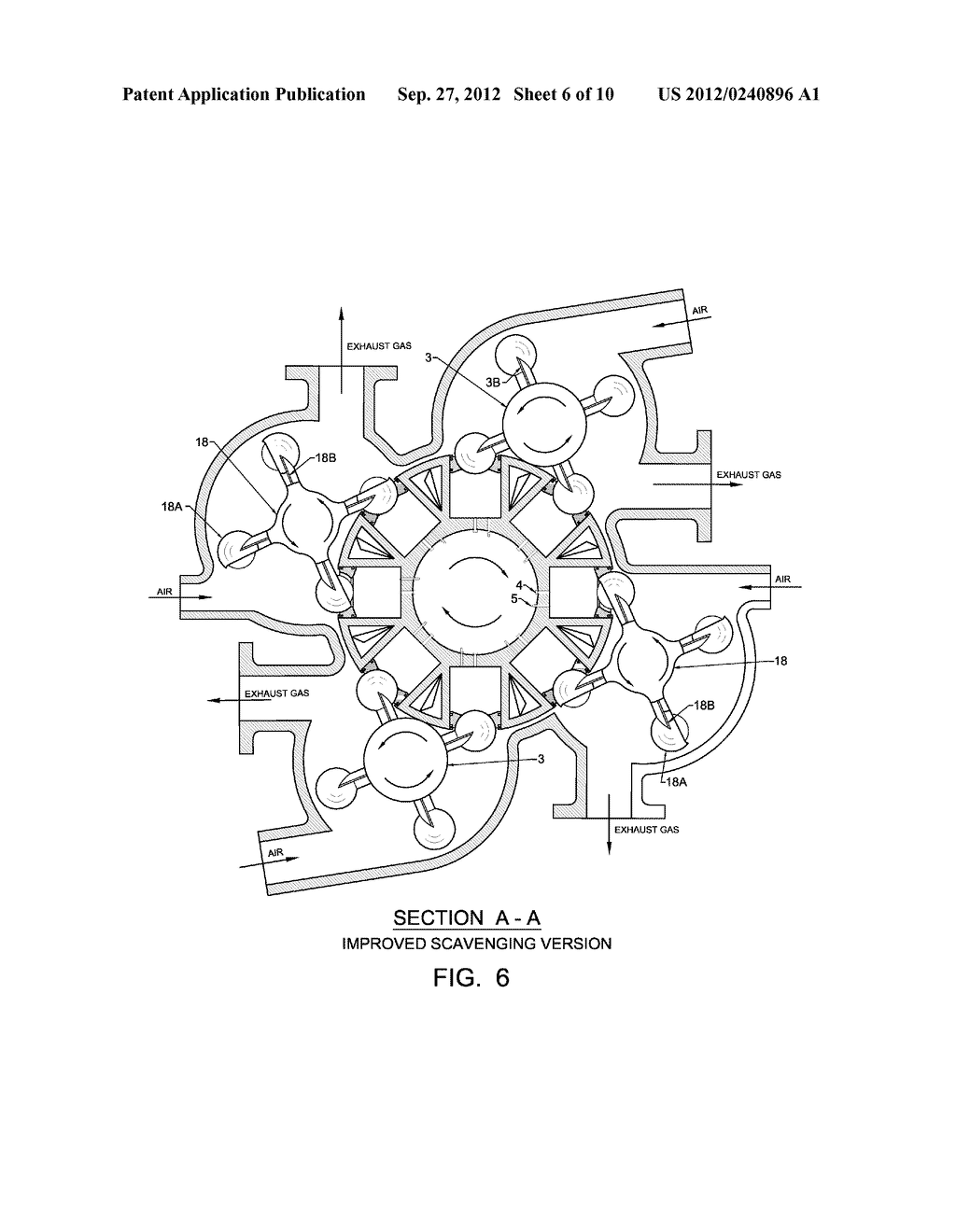 internal combustion engine with rotating cylinder block - diagram, schematic,  and image 07