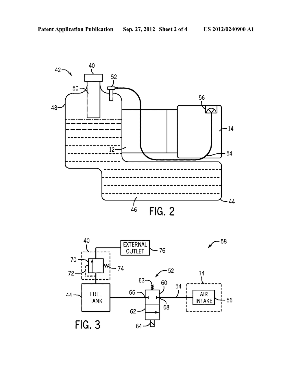 SYSTEMS AND METHODS FOR CONTROLLING FUEL VAPOR FLOW IN AN ENGINE-DRIVEN     GENERATOR - diagram, schematic, and image 03