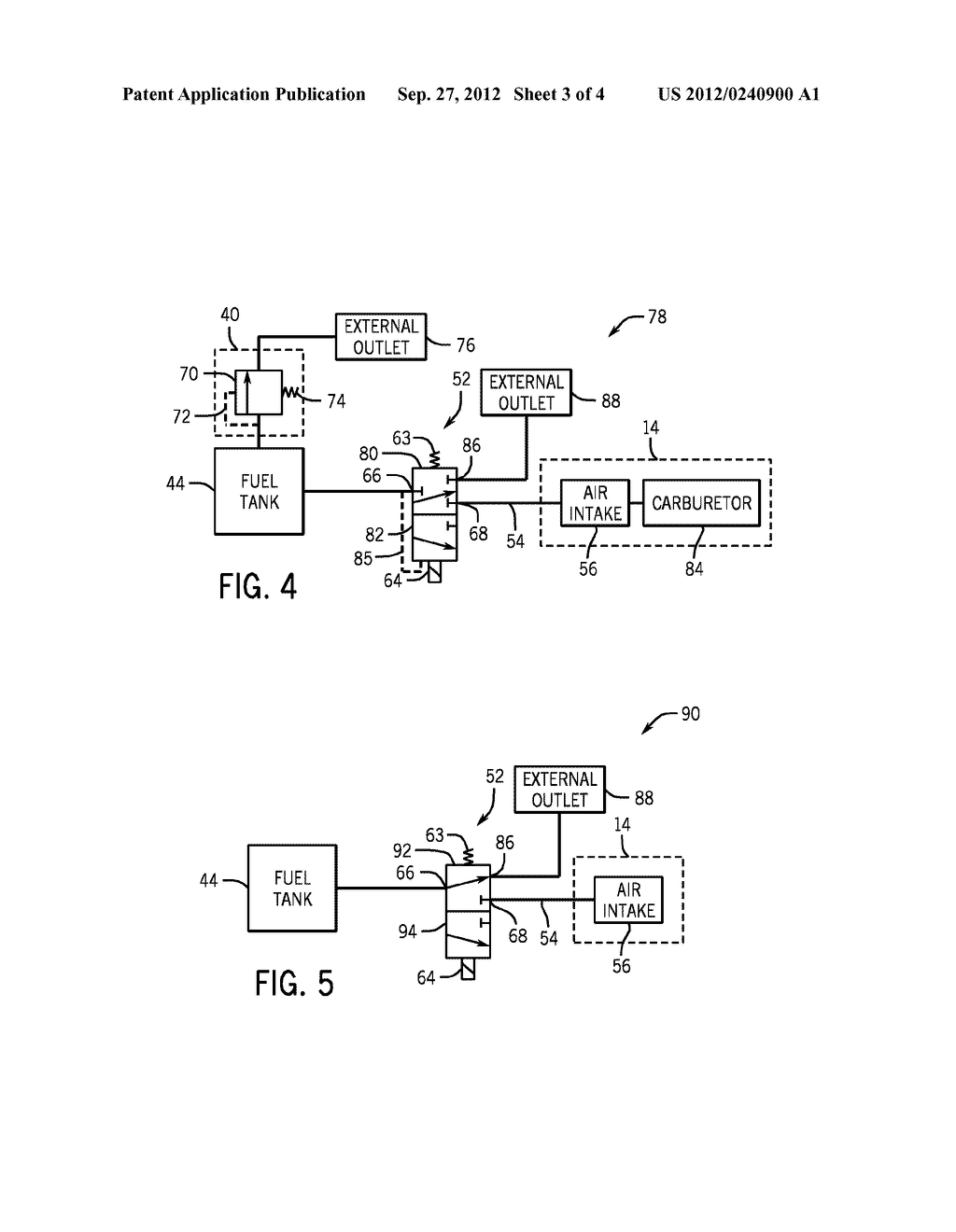 SYSTEMS AND METHODS FOR CONTROLLING FUEL VAPOR FLOW IN AN ENGINE-DRIVEN     GENERATOR - diagram, schematic, and image 04