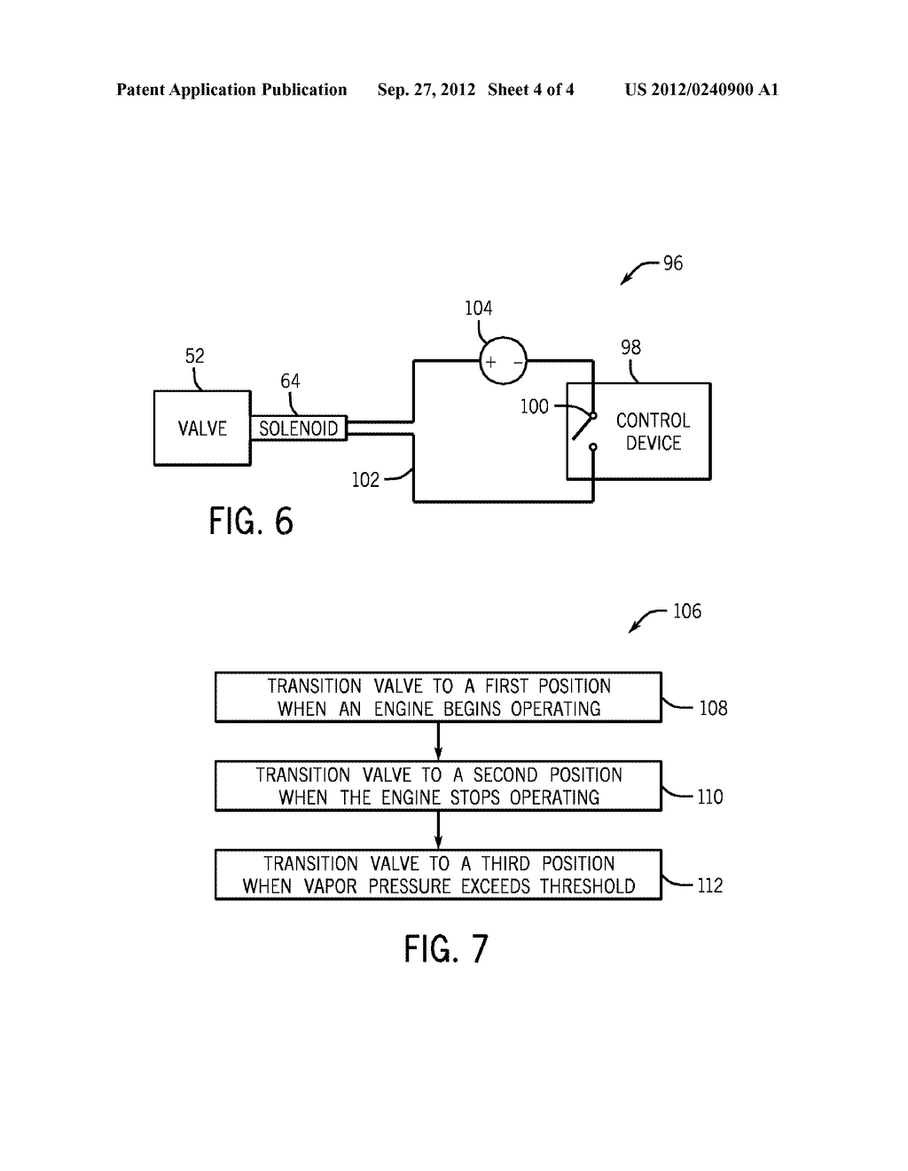 SYSTEMS AND METHODS FOR CONTROLLING FUEL VAPOR FLOW IN AN ENGINE-DRIVEN     GENERATOR - diagram, schematic, and image 05