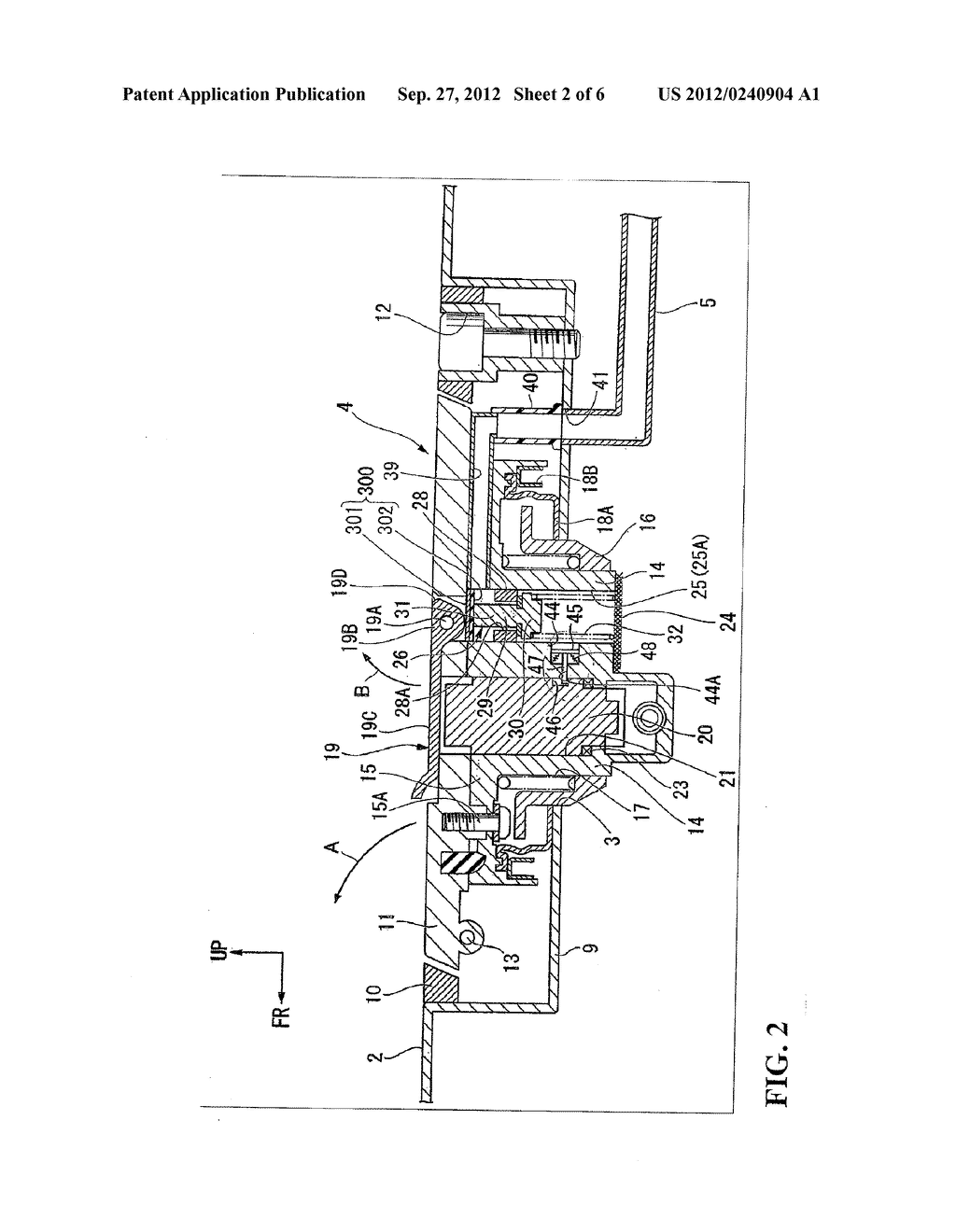 EVAPORATED FUEL TREATMENT DEVICE FOR VEHICLE - diagram, schematic, and image 03