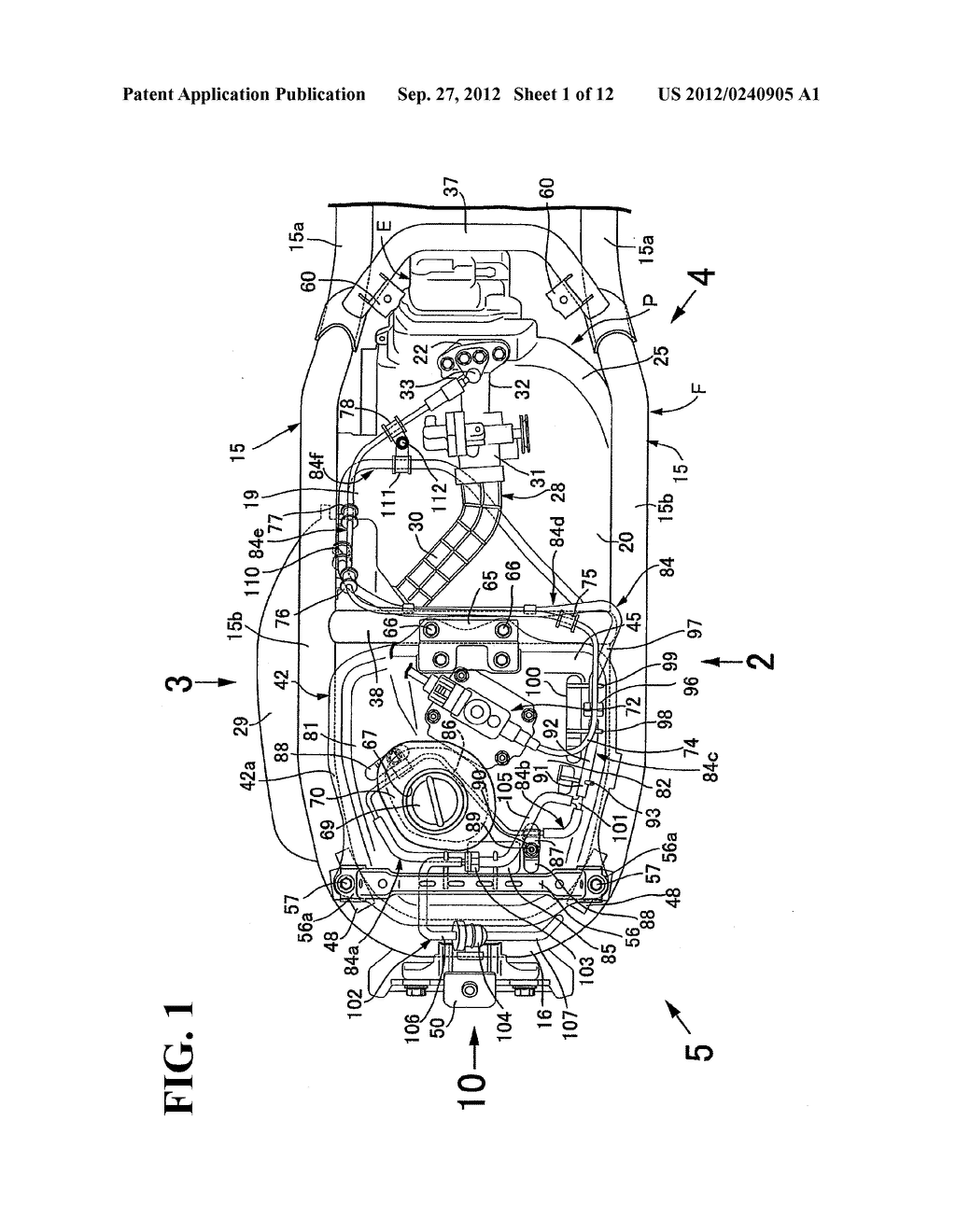 EVAPORATED FUEL TREATMENT DEVICE FOR MOTORCYCLE - diagram, schematic, and image 02