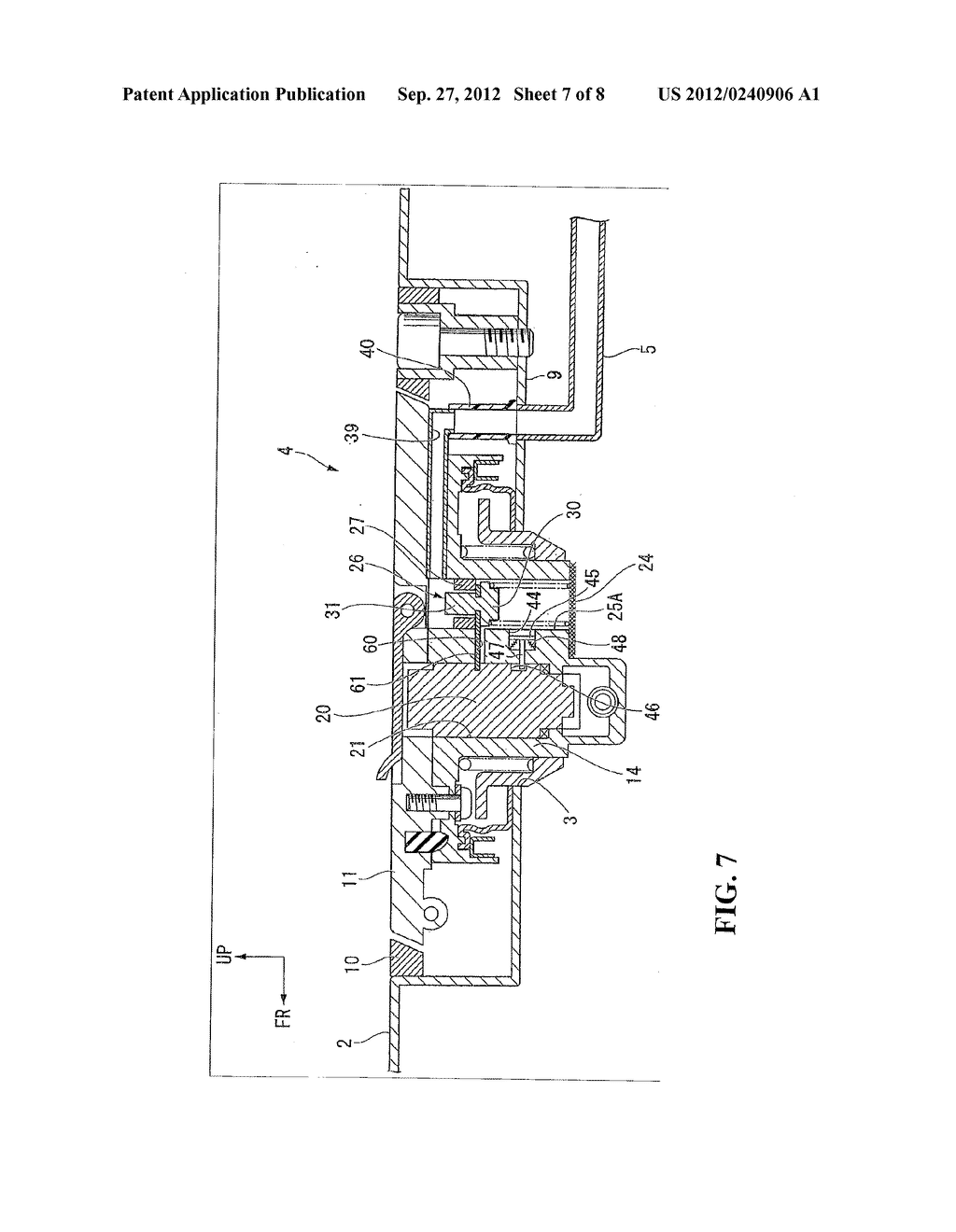 EVAPORATED FUEL TREATMENT DEVICE FOR VEHICLE - diagram, schematic, and image 08