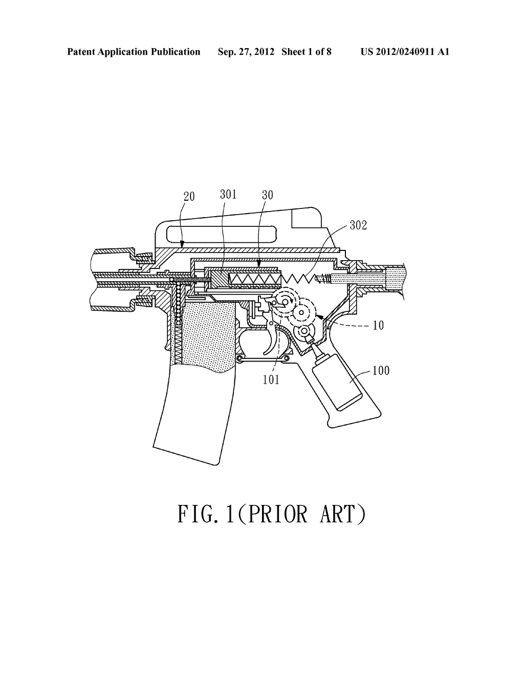 Electric Toy Gun with an Attached Cartridge Carrier - diagram, schematic, and image 02