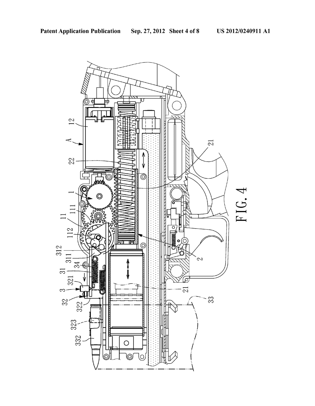 Electric Toy Gun with an Attached Cartridge Carrier - diagram, schematic, and image 05