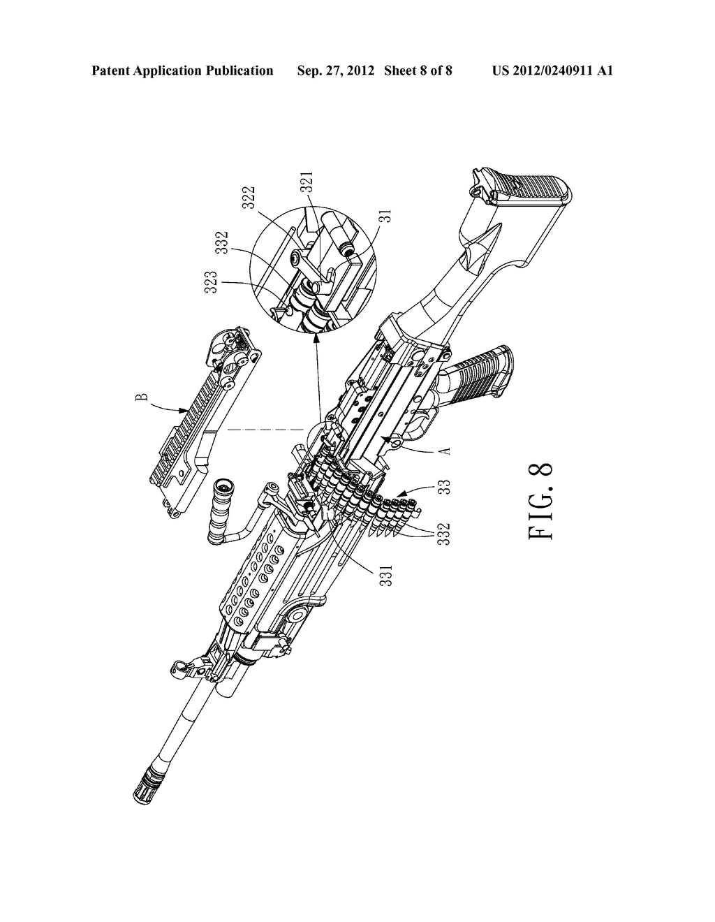 Electric Toy Gun with an Attached Cartridge Carrier - diagram, schematic, and image 09