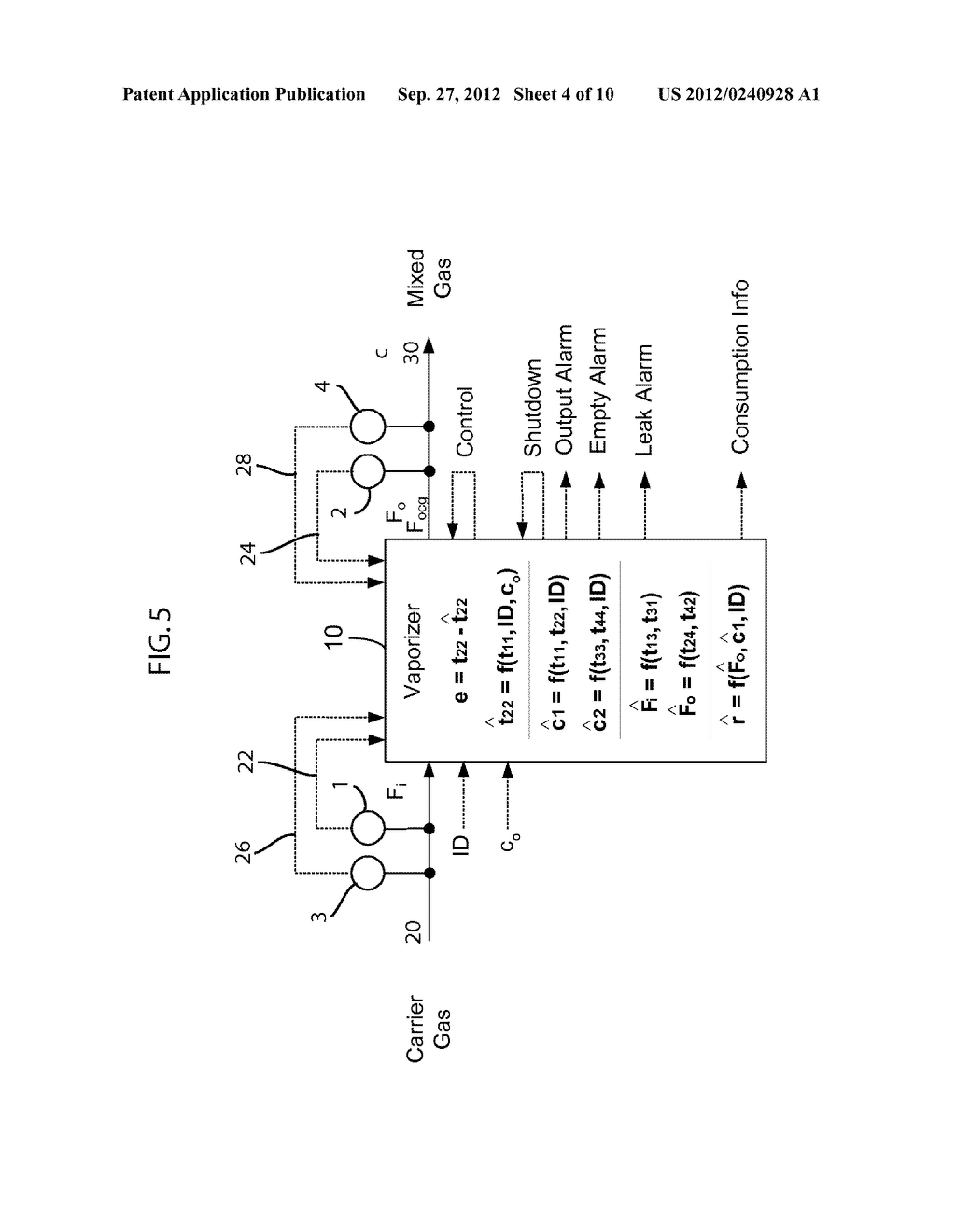 Medical Vaporizer and Method of Monitoring of a Medical Vaporizer - diagram, schematic, and image 05
