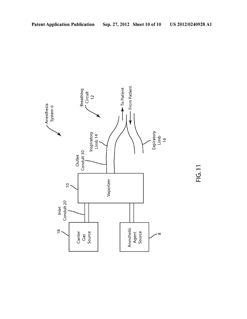 Medical Vaporizer and Method of Monitoring of a Medical Vaporizer - diagram, schematic, and image 11
