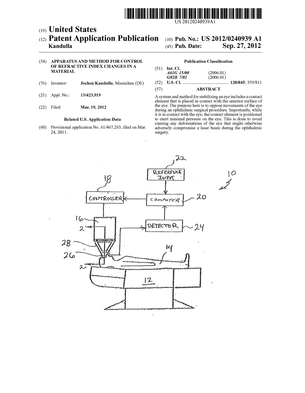 Apparatus and Method for Control of Refractive Index Changes in a Material - diagram, schematic, and image 01