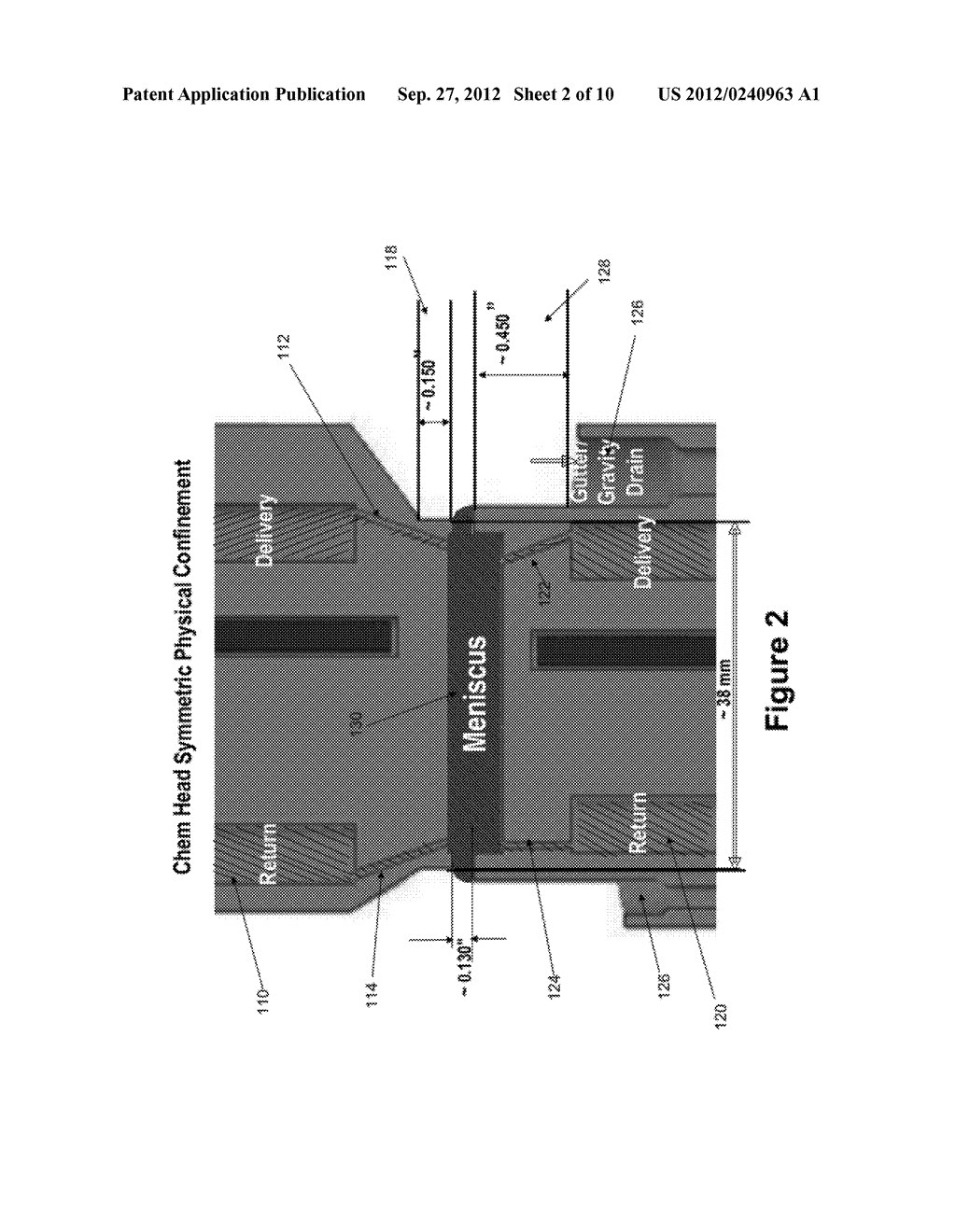 METHOD AND APPARATUS FOR PHYSICAL CONFINEMENT OF A LIQUID MENISCUS OVER A     SEMICONDUCTOR WAFER - diagram, schematic, and image 03