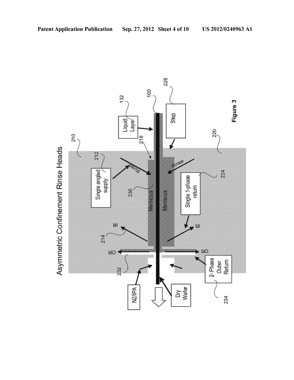 METHOD AND APPARATUS FOR PHYSICAL CONFINEMENT OF A LIQUID MENISCUS OVER A     SEMICONDUCTOR WAFER - diagram, schematic, and image 05