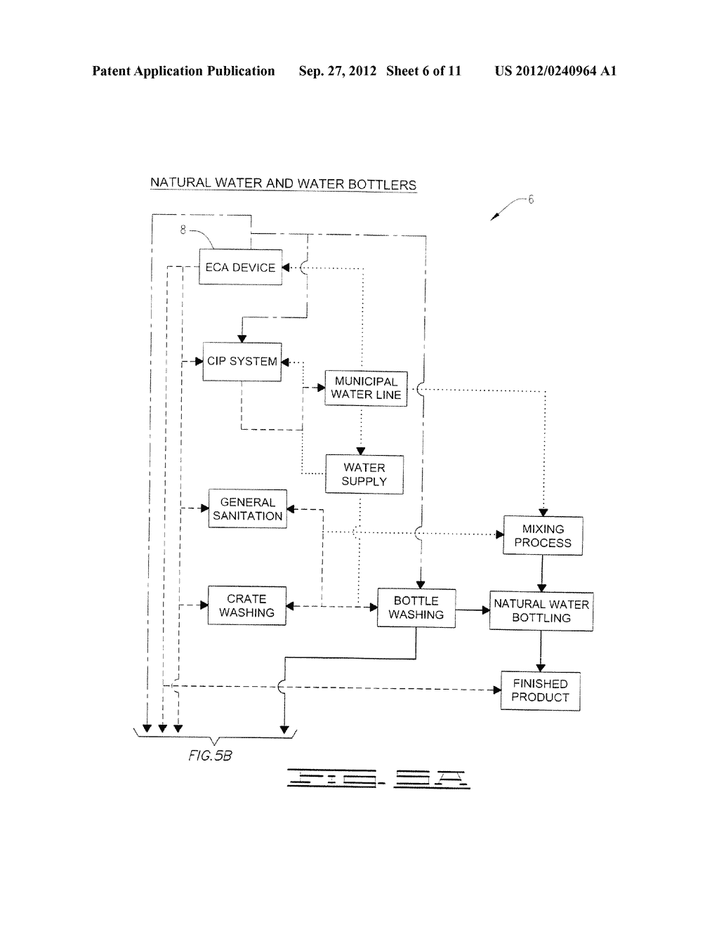 BEVERAGE MANUFACTURE, PROCESSING, PACKAGING AND DISPENSING USING     ELECTROCHEMICALLY ACTIVATED WATER - diagram, schematic, and image 07