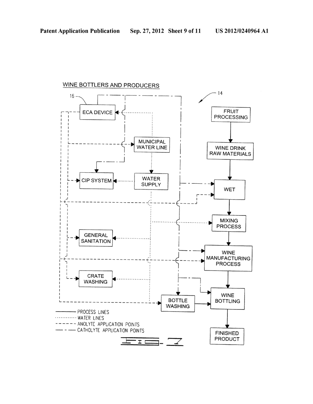 BEVERAGE MANUFACTURE, PROCESSING, PACKAGING AND DISPENSING USING     ELECTROCHEMICALLY ACTIVATED WATER - diagram, schematic, and image 10