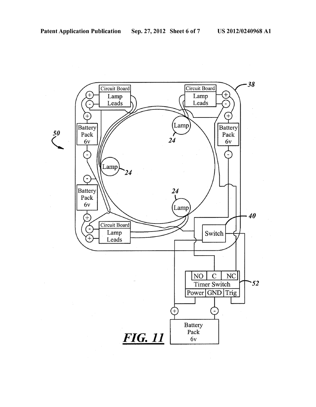 SYSTEM AND APPARATUS FOR SANITIZING A DOOR OPENING DEVICE OR OTHER POINT     OF CONTACT - diagram, schematic, and image 07