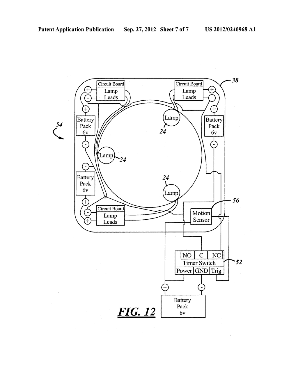 SYSTEM AND APPARATUS FOR SANITIZING A DOOR OPENING DEVICE OR OTHER POINT     OF CONTACT - diagram, schematic, and image 08