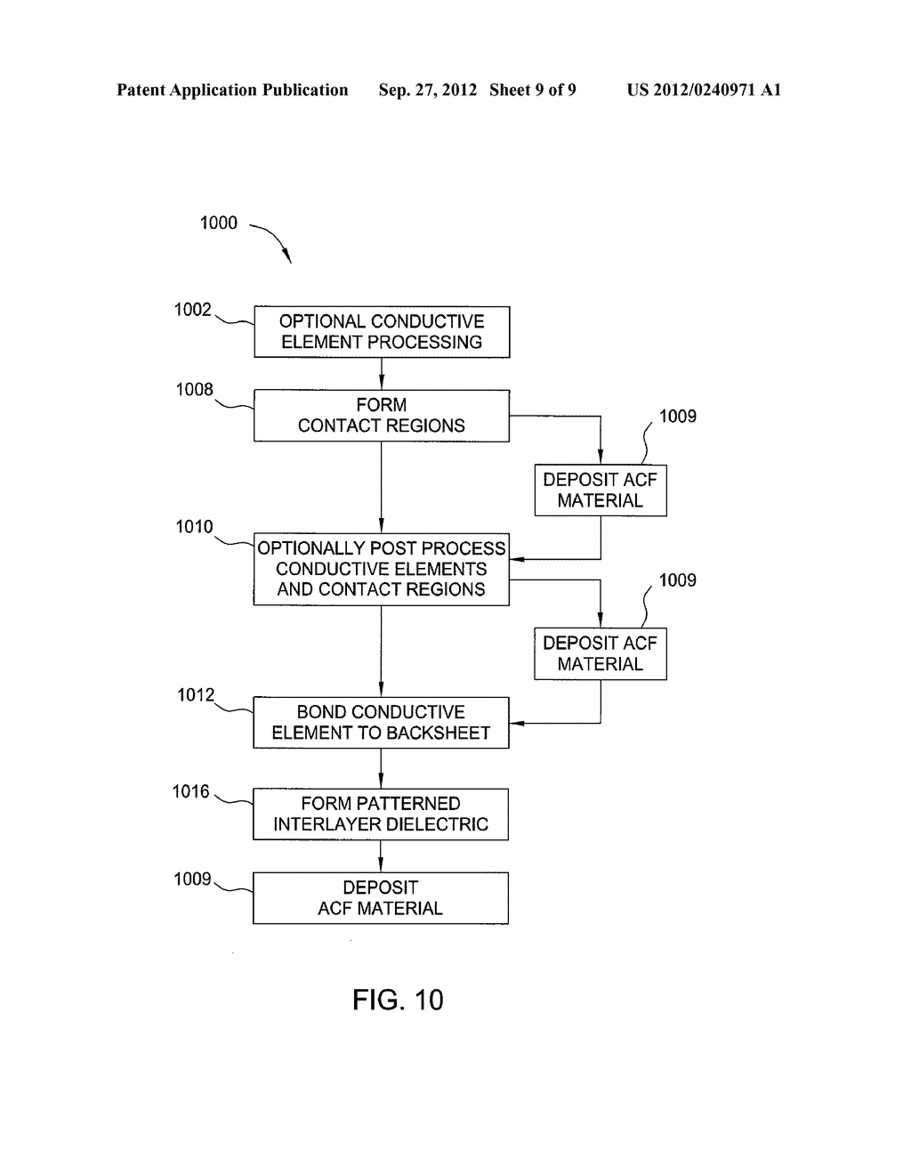 PROCESS FOR FORMING FLEXIBLE SUBSTRATES HAVING PATTERNED CONTACT AREAS - diagram, schematic, and image 10
