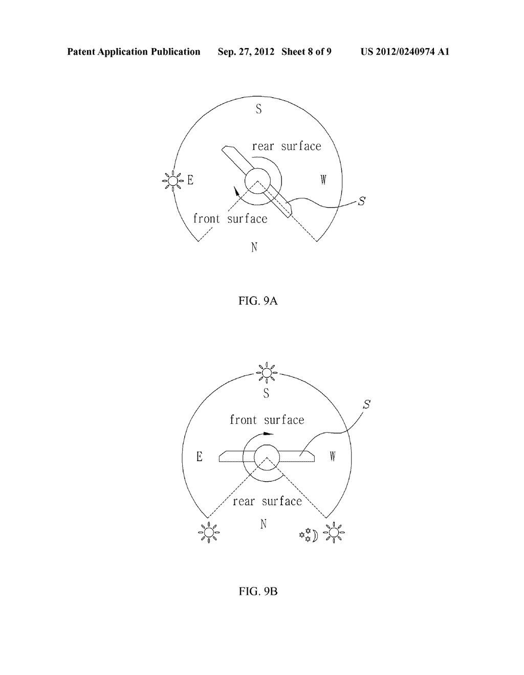 DRIVING DEVICE FOR AUTOMATIC TRACKING OPERATION OF SOLAR PANEL FOR SOLAR     POWER GENERATOR - diagram, schematic, and image 09