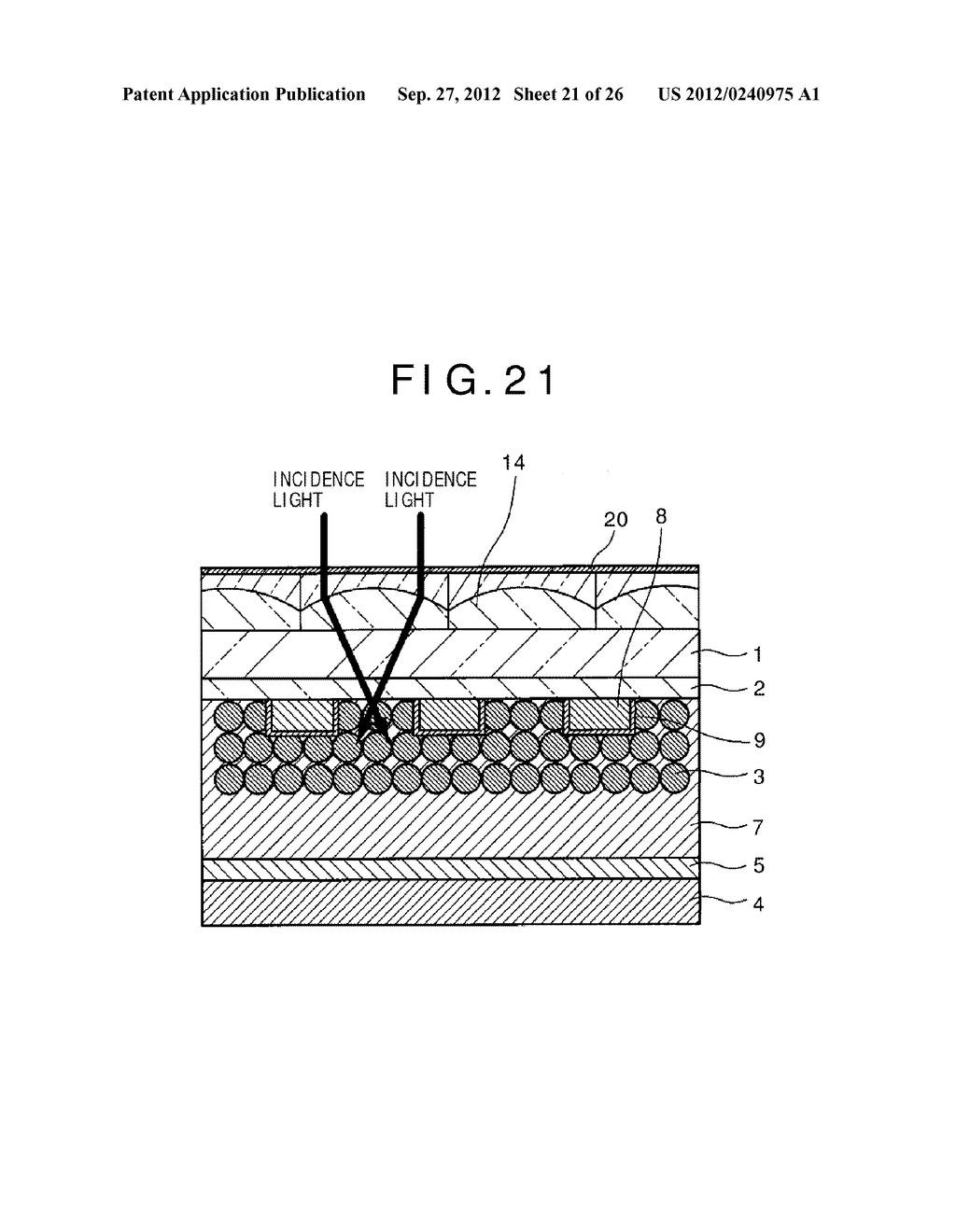 PHOTOELECTRIC CONVERSION DEVICE, PHOTOELECTRIC CONVERSION DEVICE ARRAY,     FABRICATION METHOD FOR PHOTOELECTRIC CONVERSION DEVICE AND ELECTRONIC     APPARATUS - diagram, schematic, and image 22