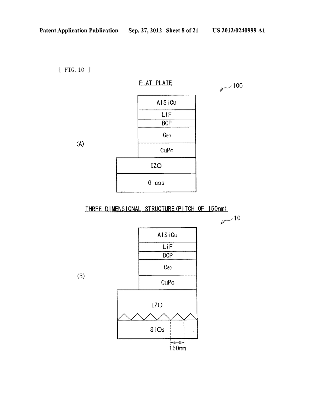 PHOTOELECTRIC CONVERSION DEVICE AND METHOD OF MANUFACTURING PHOTOELECTRIC     CONVERSION DEVICE - diagram, schematic, and image 09