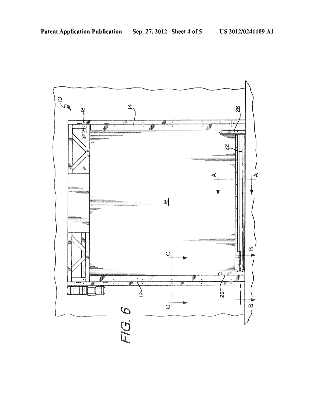 DEVICE AND METHOD FOR INCREASING THE WIND LOAD RESISTANCE AND     DISENGAGE-ABILITY OF OVERHEAD ROLL-UP DOORS - diagram, schematic, and image 05