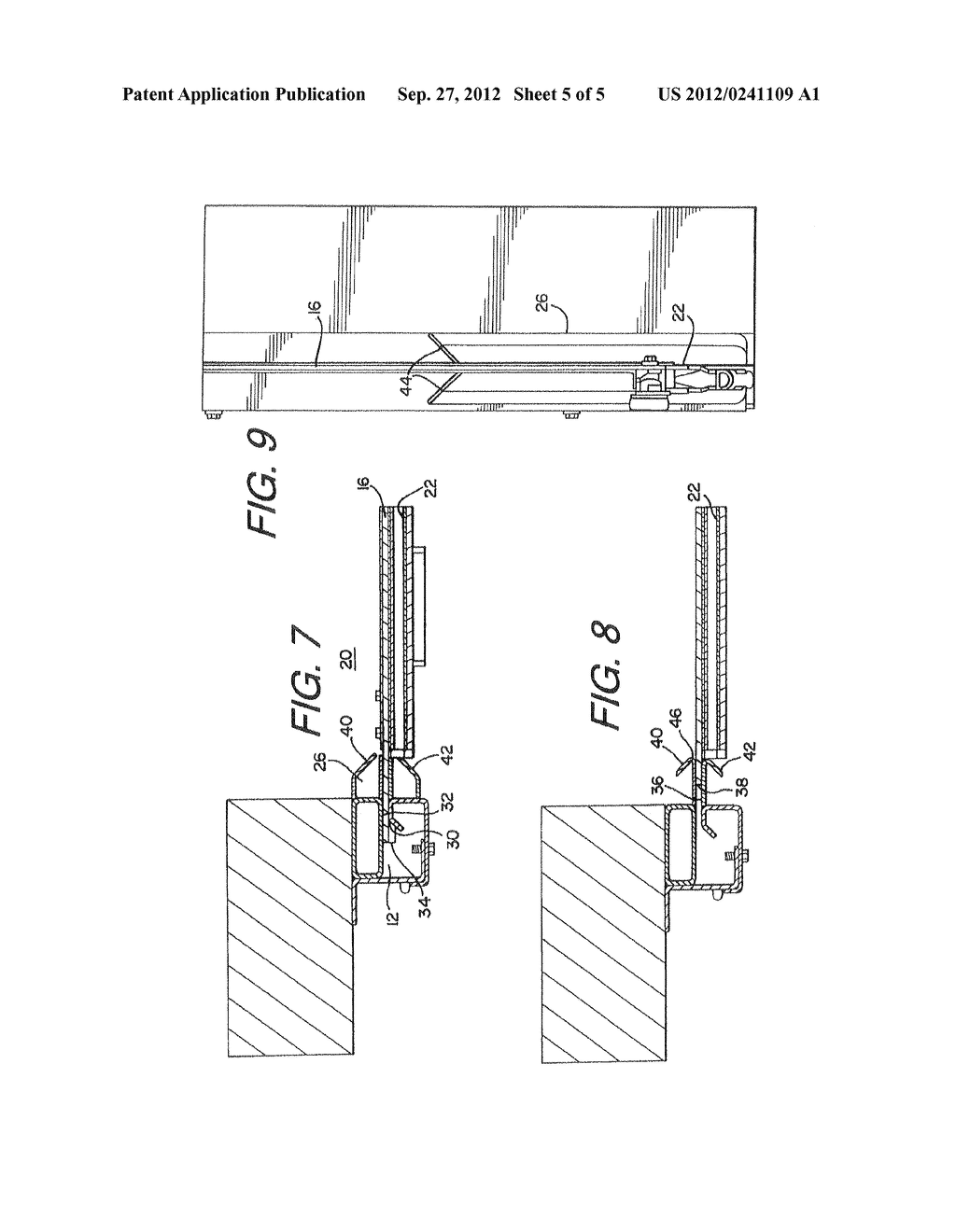DEVICE AND METHOD FOR INCREASING THE WIND LOAD RESISTANCE AND     DISENGAGE-ABILITY OF OVERHEAD ROLL-UP DOORS - diagram, schematic, and image 06