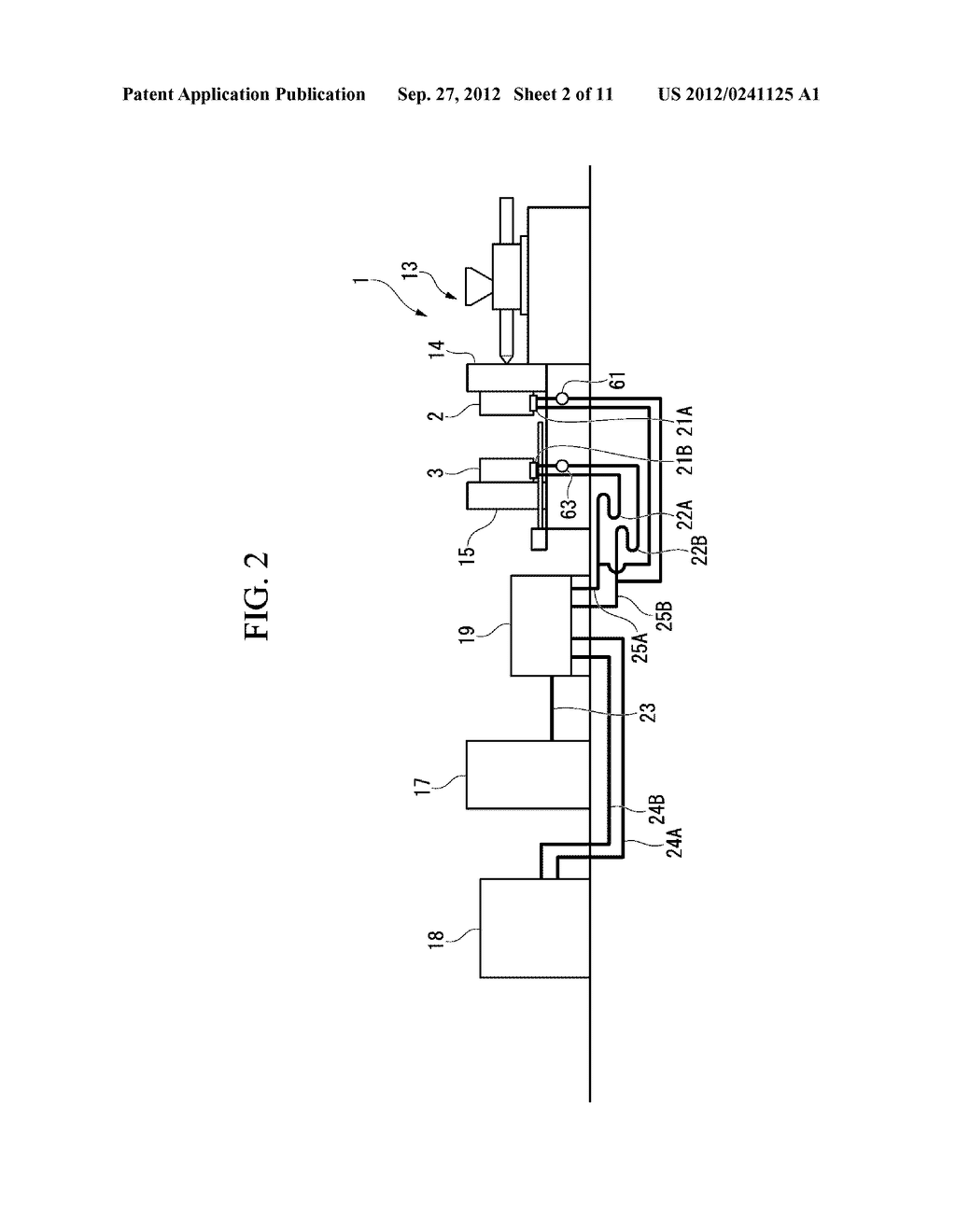 INJECTION MOLDING DEVICE AND METHOD FOR DISCHARGING HEAT MEDIUM FOR     INJECTION MOLDING DEVICE - diagram, schematic, and image 03