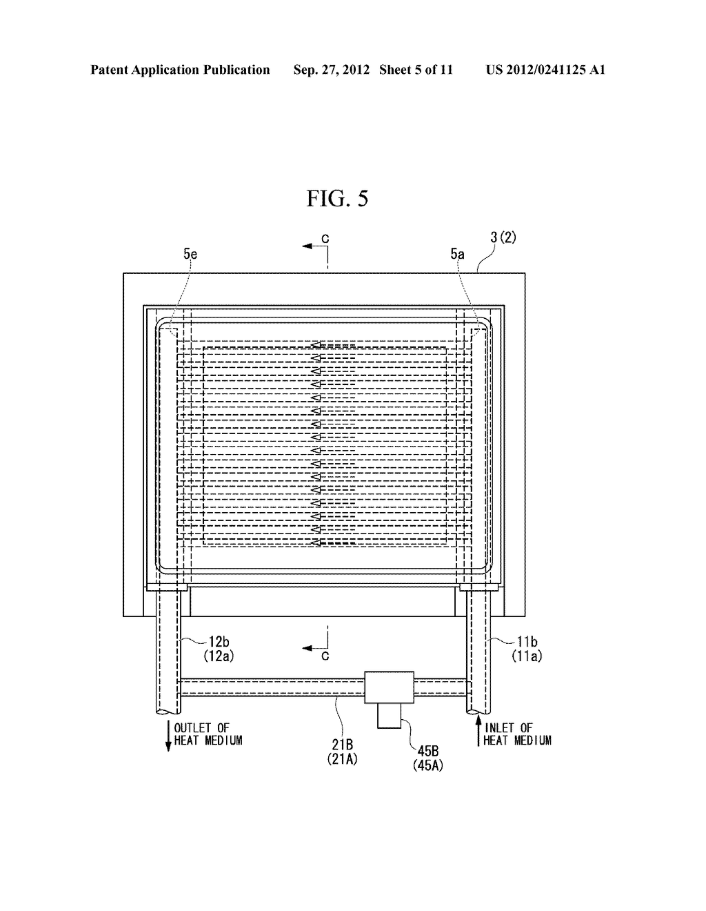 INJECTION MOLDING DEVICE AND METHOD FOR DISCHARGING HEAT MEDIUM FOR     INJECTION MOLDING DEVICE - diagram, schematic, and image 06